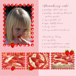 "Scrapbook template ""Food #02"" in ""Food"""