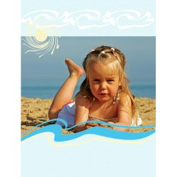 "Scrapbook template ""Summer #15"" in ""Summer Vacation"""