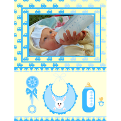 "Scrapbook template ""Baby Shower #15"" in ""Baby Shower"""