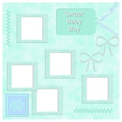 "Scrapbook template ""Sweet Baby Boy #5"" in ""Baby Scrapbooking"""