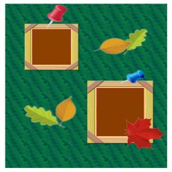 "Scrapbook template ""Fall # 1"" in ""Fall"""