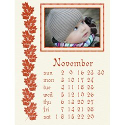 "Scrapbook template ""November #17"" in ""Calendars 2008"""