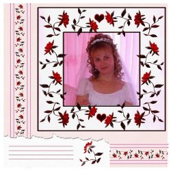 "Scrapbook template ""Wedding #8"" in ""Wedding Scrapbooking Templates"""