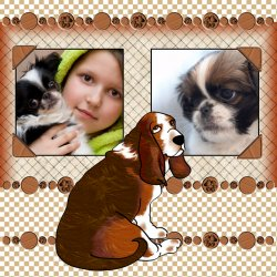 "Scrapbook template ""Dogs #04"" in ""Pets"""