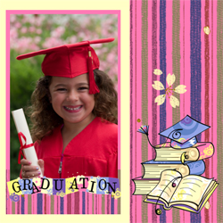 "Scrapbook template ""Graduation #20"" in ""Graduation"""