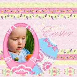 "Scrapbook template ""Easter #07"" in ""Easter"""