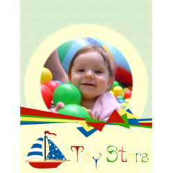 "Scrapbook template ""Toy Store #17"" in ""Baby Scrapbooking"""