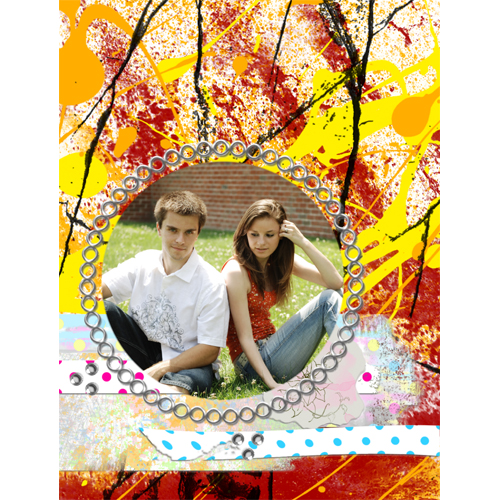 "Scrapbook template ""Teenagers #13"" in ""Teenagers"""