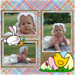 "Scrapbook template ""Easter #40"" in ""Easter"""
