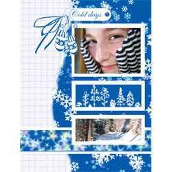 "Scrapbook template ""Winter time #03"" in ""Winter Vacation"""