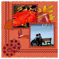 "Scrapbook template ""PhotoMix Fall #5"" in ""Fall"""
