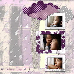 "Scrapbook template ""Rainy Day #02"" in ""Seasonal"""