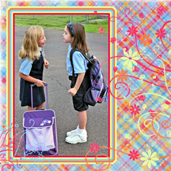 "Scrapbook template ""Friends #33"" in ""Friends Scrapbooking"""