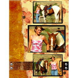 "Scrapbook template ""Wild West #11"" in ""Travel"""