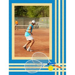 "Scrapbook template ""Sport #16"" in ""Sport"""