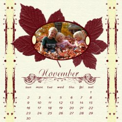 "Scrapbook template ""November #10"" in ""Calendars 2008"""