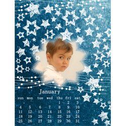 "Scrapbook template ""January #11"" in ""Calendars 2009"""