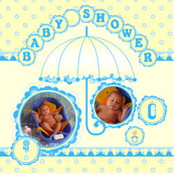 "Scrapbook template ""Baby Shower #10"" in ""Baby Shower"""