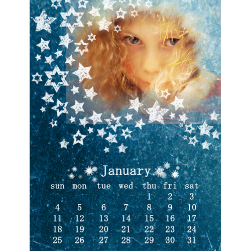 "Scrapbook template ""January #01"" in ""Calendars 2009"""