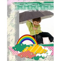 "Scrapbook template ""Rainy Day #05"" in ""Seasonal"""