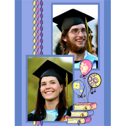"Scrapbook template ""Graduation #15"" in ""Graduation"""