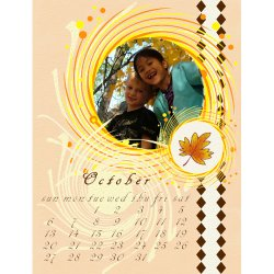 "Scrapbook template ""October #01"" in ""Calendars 2008"""