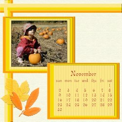 "Scrapbook template ""November #16"" in ""Calendars 2008"""