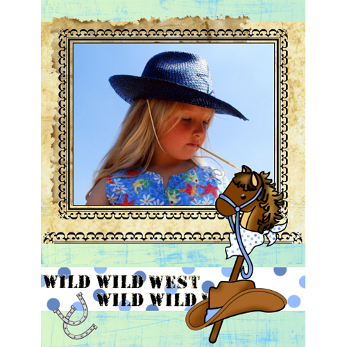 "Scrapbook template ""Wild West #05"" in ""Travel"""