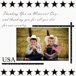 "Scrapbook template ""Memorial Day #29"" in ""Memorial Day"""