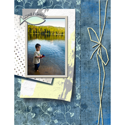 "Scrapbook template ""Fishing #11"" in ""Summer Vacation"""