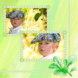 "Scrapbook template ""Nature #04"" in ""Nature"""
