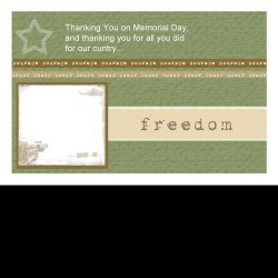 "Scrapbook template ""Memorial Day Card #2"" in ""Military"""