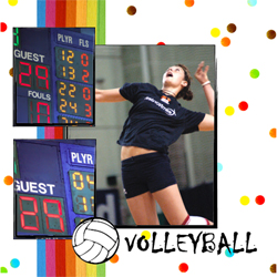 "Scrapbook template ""Volleyball #10"" in ""Sport"""