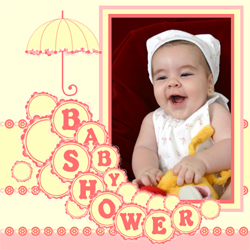 "Scrapbook template ""Baby Shower #04"" in ""Baby Shower"""
