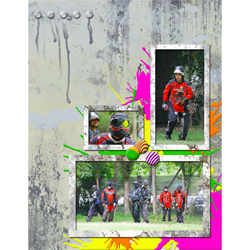 "Scrapbook template ""Paintball #01"" in ""Sport"""