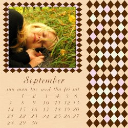 "Scrapbook template ""September #04"" in ""Calendars 2008"""
