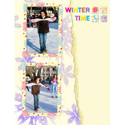 "Scrapbook template ""Winter time #13"" in ""Winter Vacation"""
