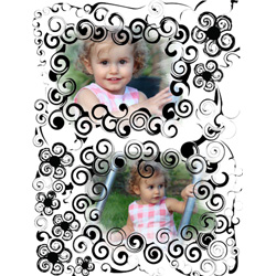 "Scrapbook template ""Black&White #05"" in ""Black&White"""