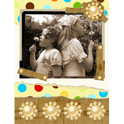 "Scrapbook template ""Family #11"" in ""Family"""