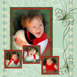 "Scrapbook template ""New Year 2009 #02"" in ""New Year"""