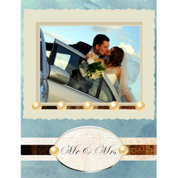 "Scrapbook template ""Wedding #09"" in ""Wedding Scrapbooking Templates"""