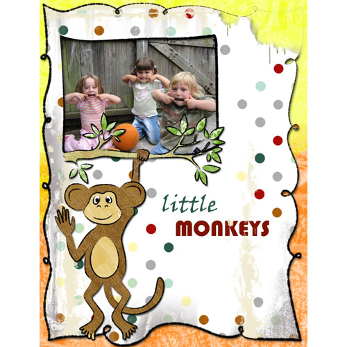 "Scrapbook template ""Funny zoo #09"" in ""Family"""