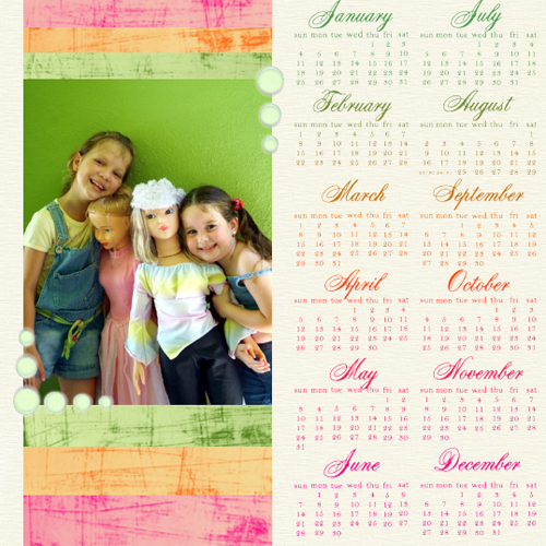 "Scrapbook template ""Calendar2009 #18"" in ""Calendars 2009"""