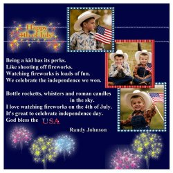 "Scrapbook template ""Independence Day #5"" in ""Independence"""