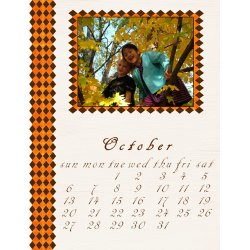 "Scrapbook template ""October #09"" in ""Calendars 2008"""
