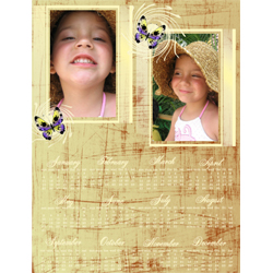 "Scrapbook template ""Calendar2009 #05"" in ""Calendars 2009"""