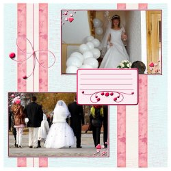 "Scrapbook template ""Wedding #2"" in ""Wedding Scrapbooking Templates"""