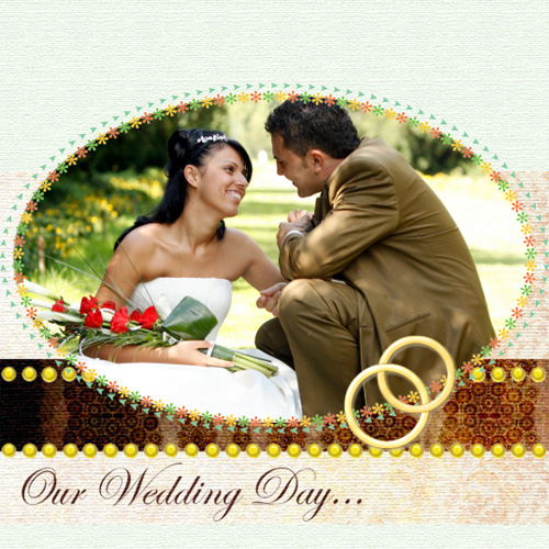 "Scrapbook template ""Wedding #10"" in ""Wedding Scrapbooking Templates"""