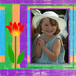 "Scrapbook template ""Spring #29"" in ""Spring"""
