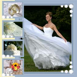 "Scrapbook template ""Wedding #08"" in ""Wedding Scrapbooking Templates"""